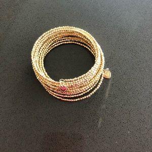 Stella and Dot gold stacked bracelet